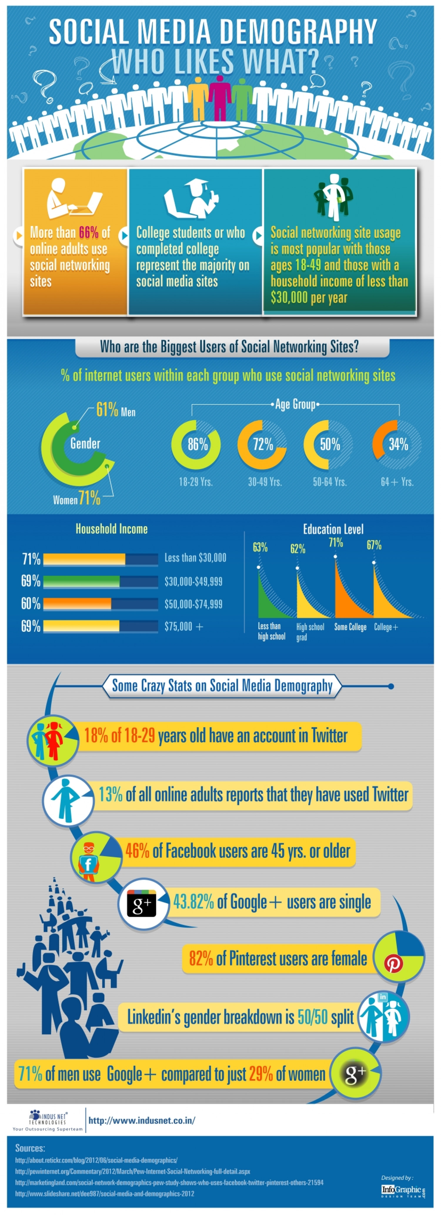 Social Media Demography- Who Likes What? Infographic