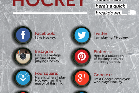 Social Media Explained with Hockey Infographic