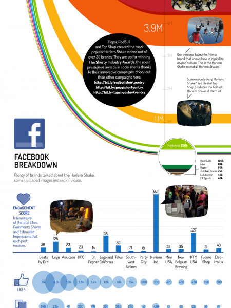 Social Media Managers Execute Harlem Shake Infographic