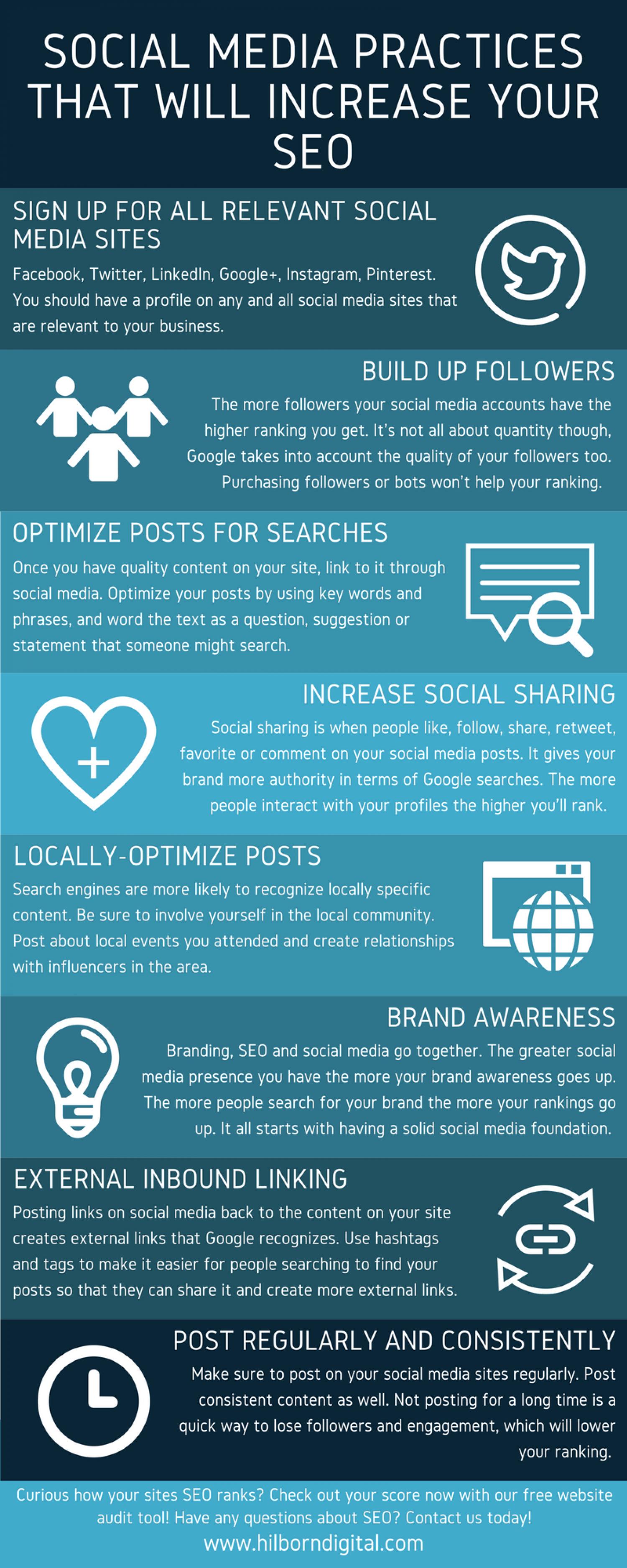 Social Media Practices That Will Increase Your SEO Infographic