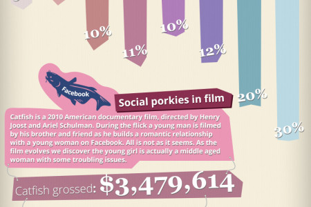 Social porkies on the rise Infographic