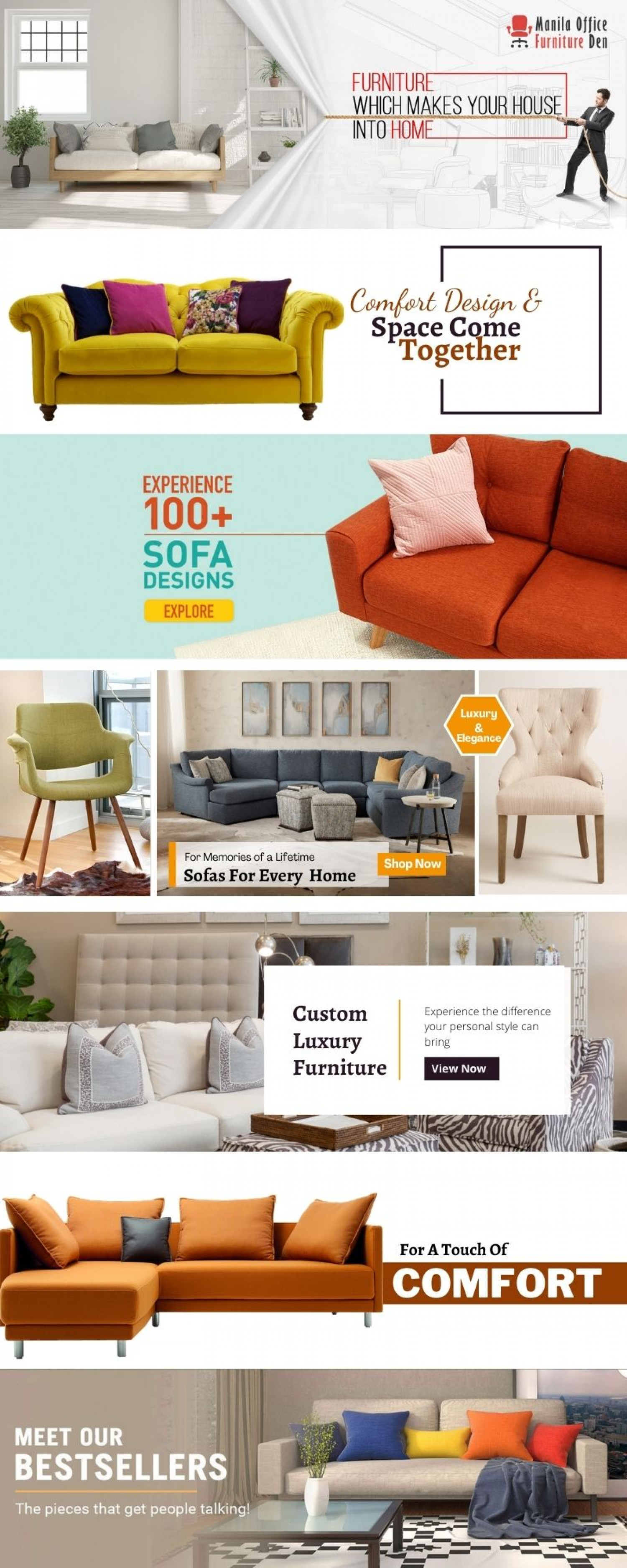Sofa Set: Add Functionality and Style to the Living Room Infographic