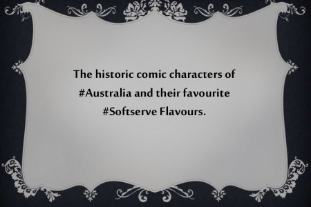 Soft serve Australia - Australian Comic characters Infographic