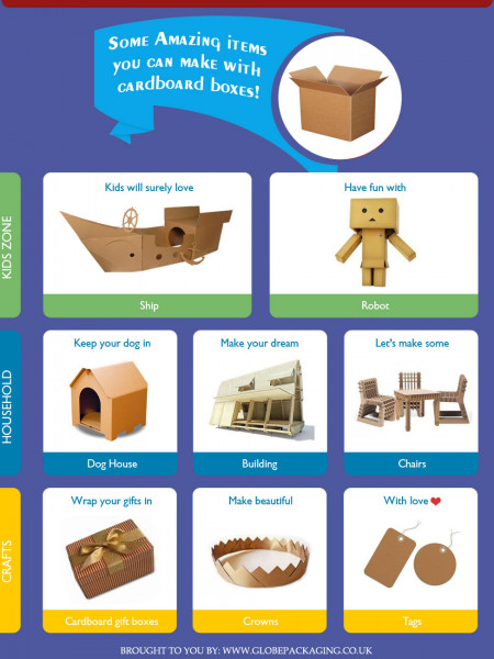 Some Amazing Items you can Make with Cardboard Packaging Boxes Infographic