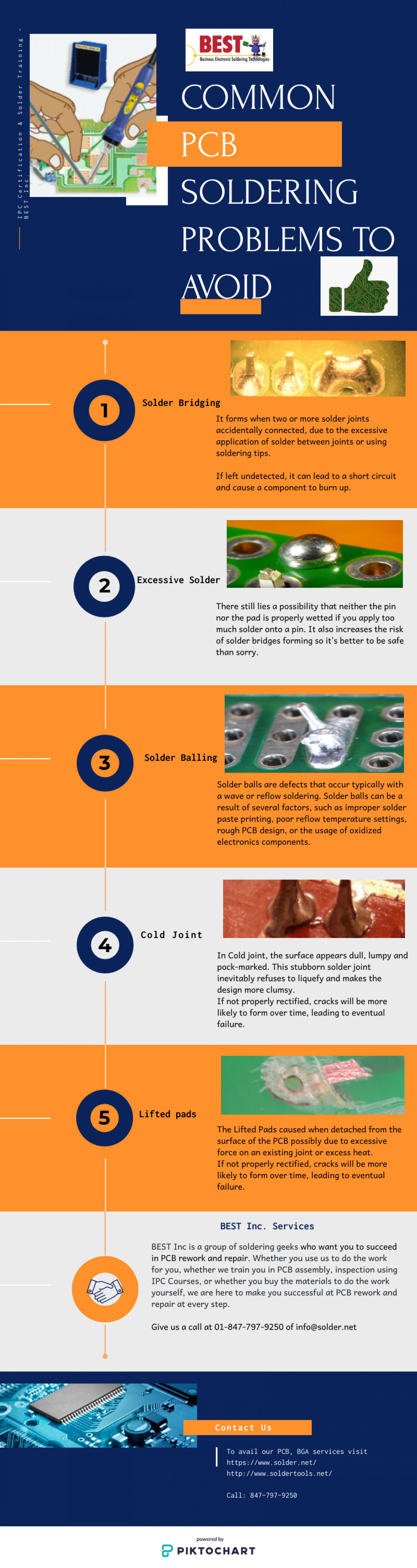 Some Common PCB Soldering Problems That We Can Avoid Infographic