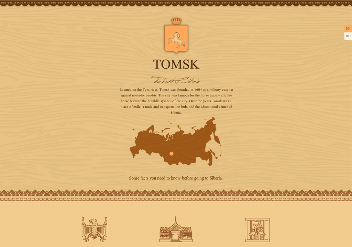Some facts about Siberia Infographic