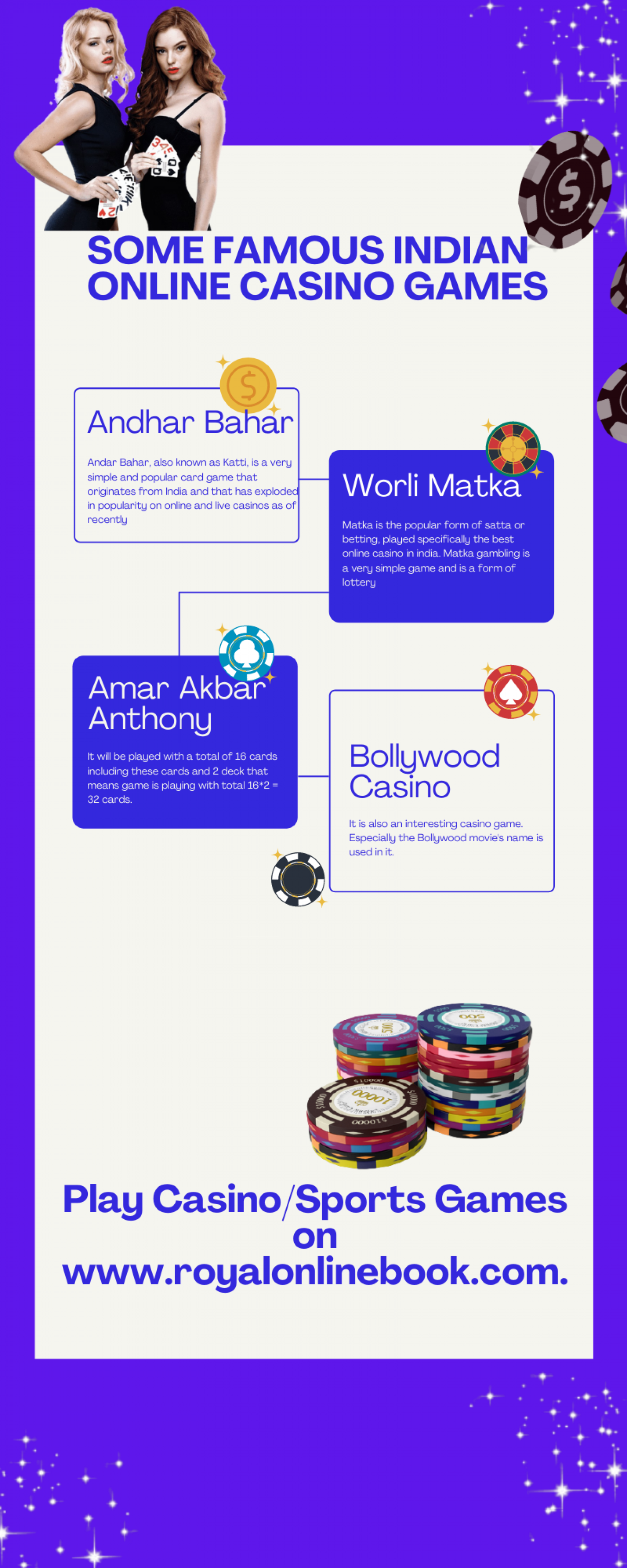 SOME FAMOUS INDIAN ONLINE CASINO GAMES Infographic