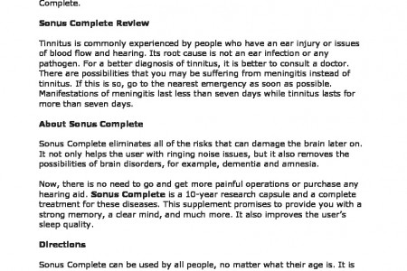 Sonus Complete Review: A New Formula for Tinnitus, Hearing ... Infographic