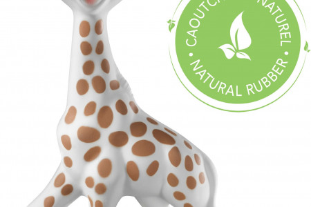 Sophie la Giraffe Teething Toy with Squeaker Infographic