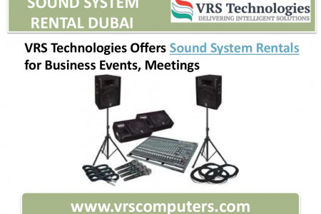 Sound System Rental Dubai | Speakers Rental Infographic