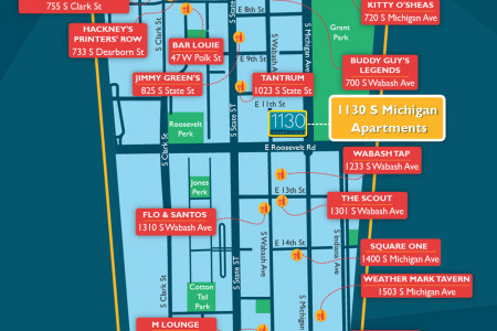 South Loop Bar Map Infographic
