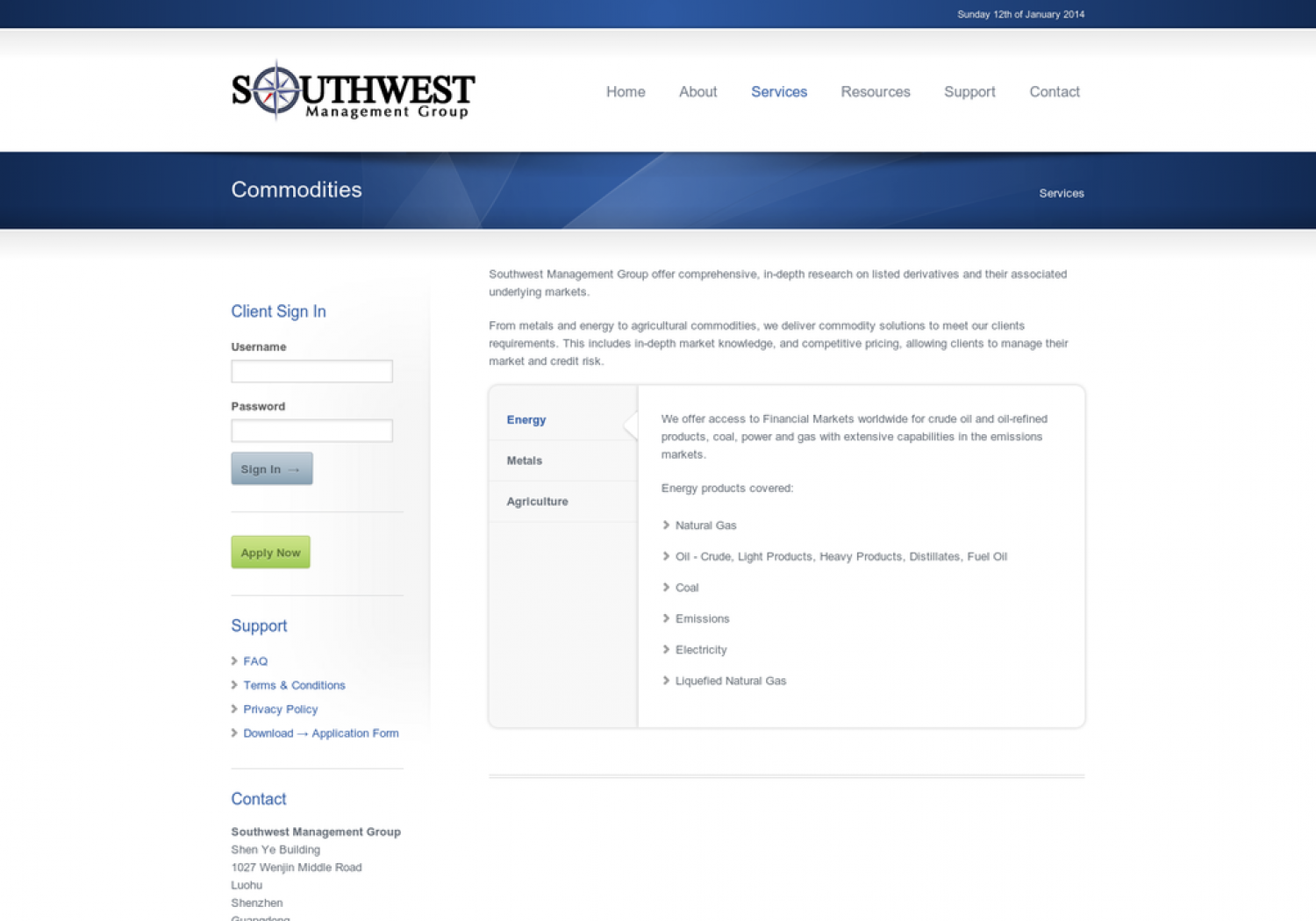 Southwest Management Group: Commodities Infographic