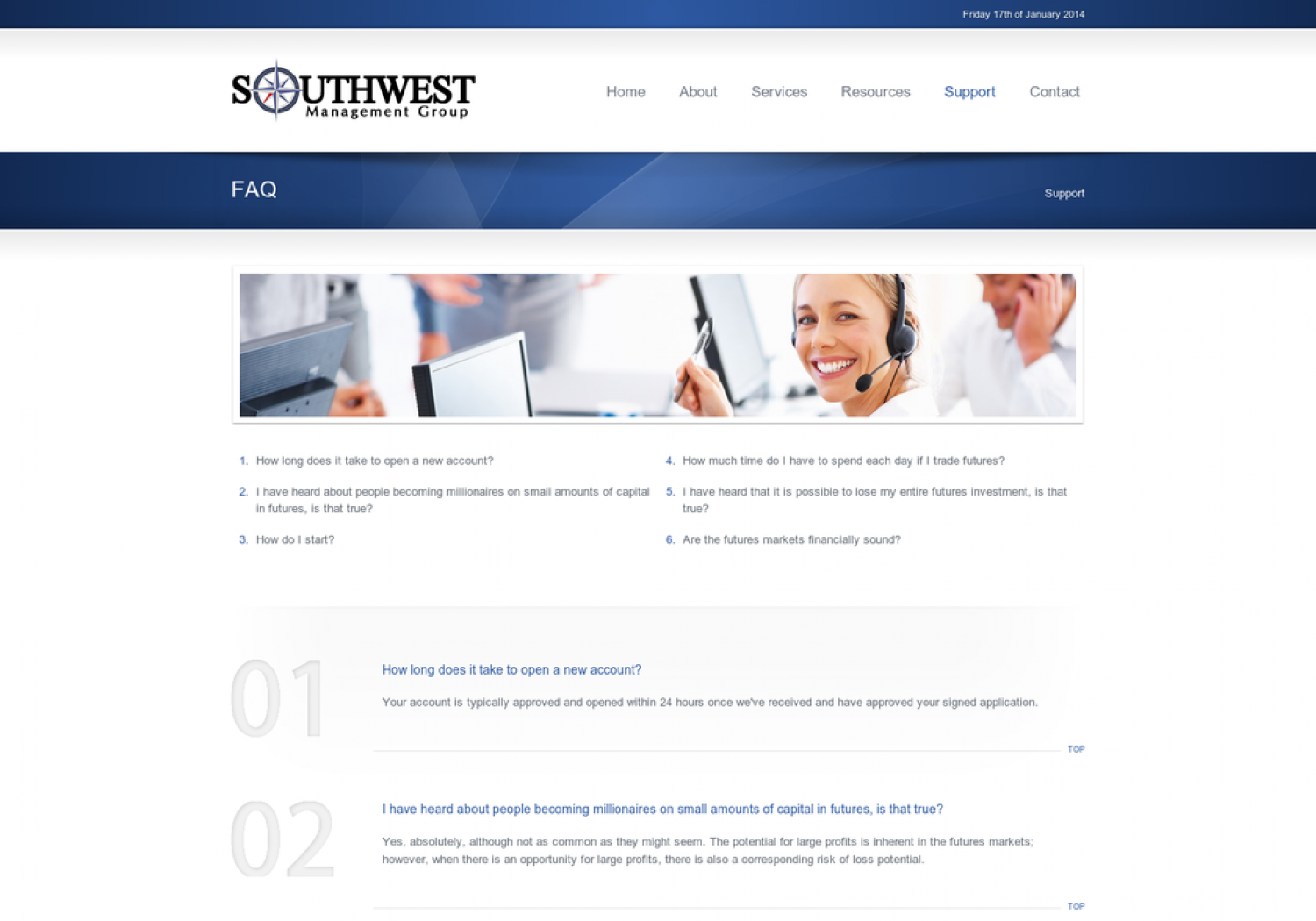 Southwest Management Group Support: FAQ Infographic