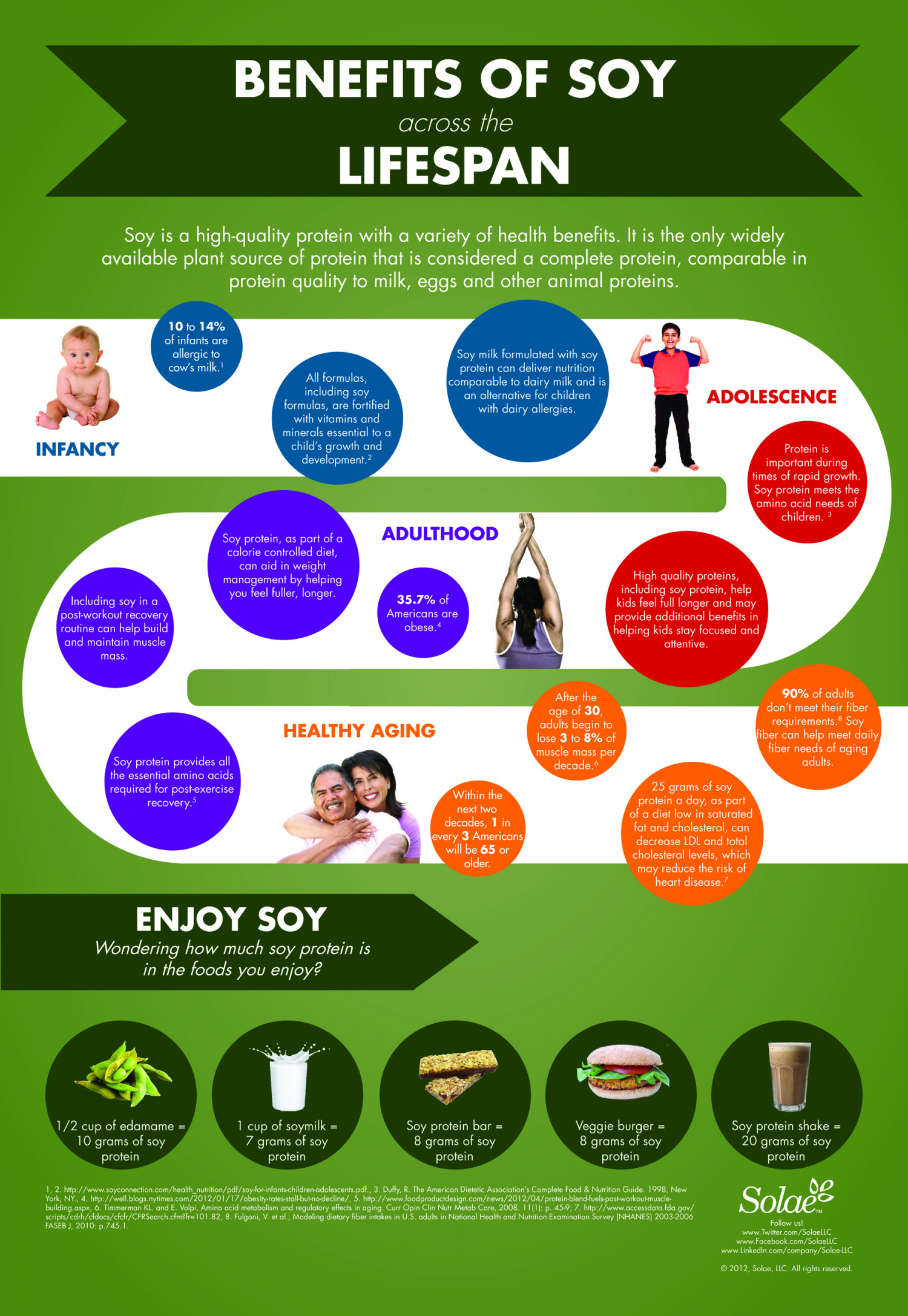 Soy Across the Lifespan Infographic