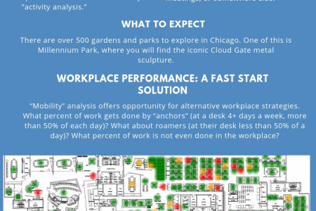 Space utilization with activity analysis Infographic