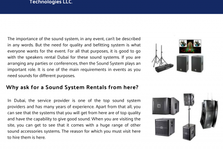 Speakers for Rent or Lease in Dubai Infographic