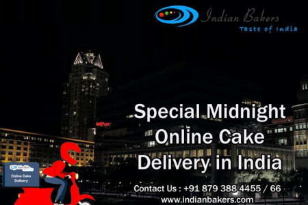Special Midnight Online Cake Delivery in India Infographic