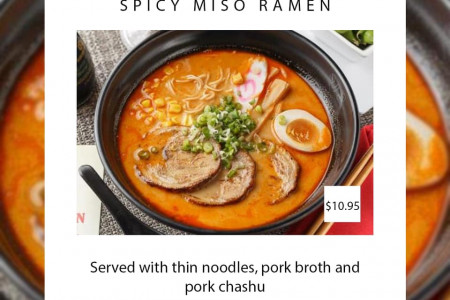 Spicy Miso Ramen - Only $10.95 Infographic