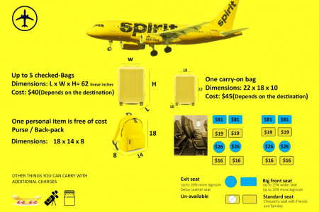 Spirit Airlines Baggage Infographic