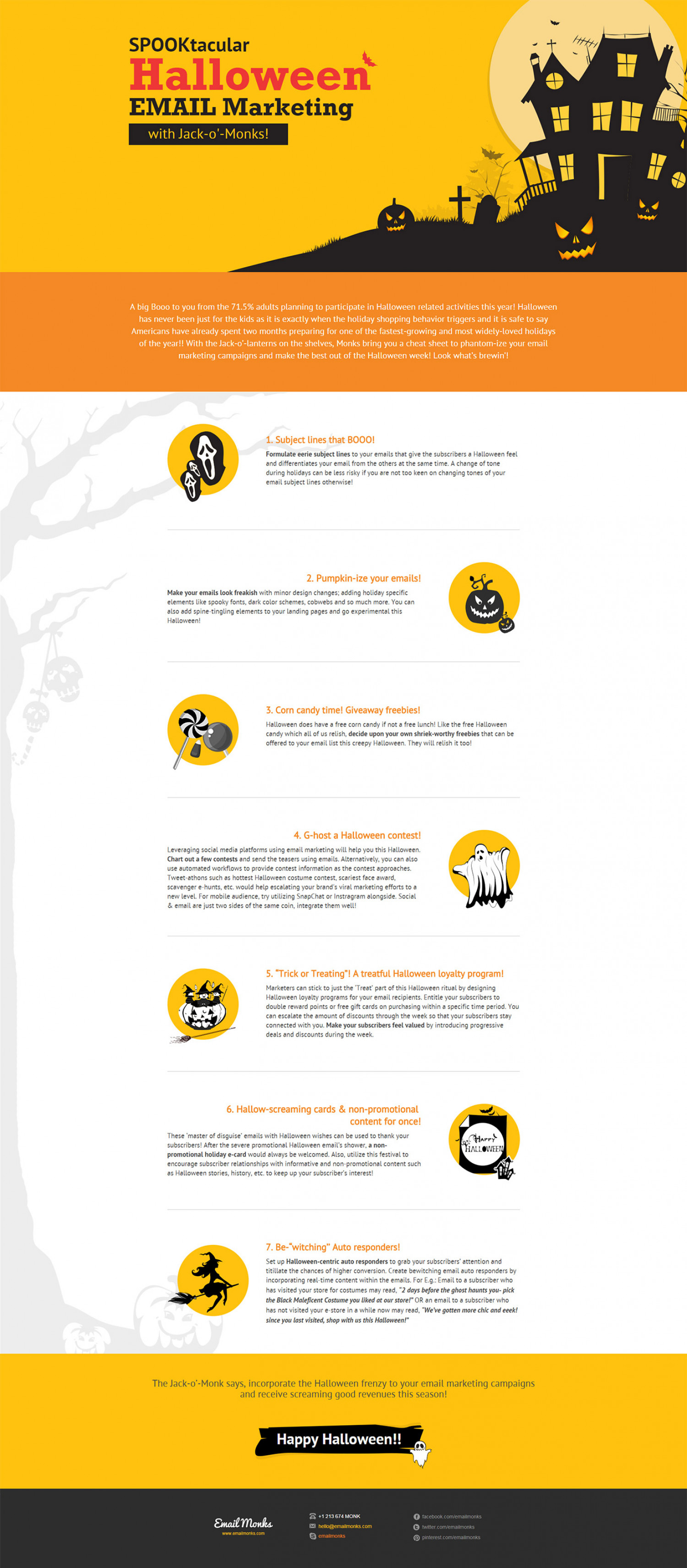 SPOOKtacular Halloween Email Marketing Tips | Visual.ly