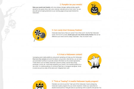 SPOOKtacular Halloween Email Marketing Tips Infographic