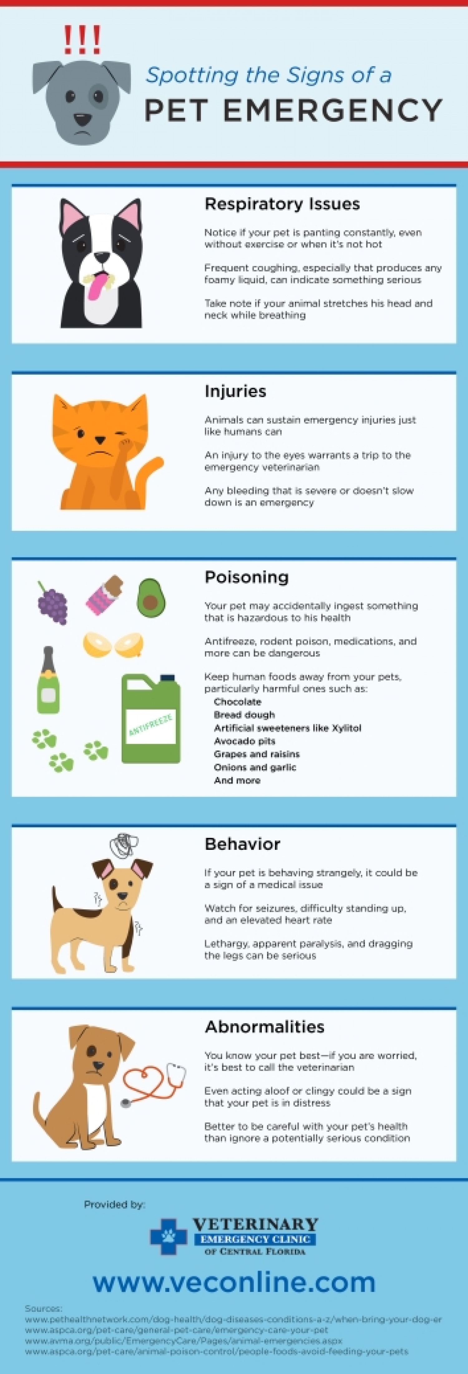 Spotting the Signs of a Pet Emergency Infographic