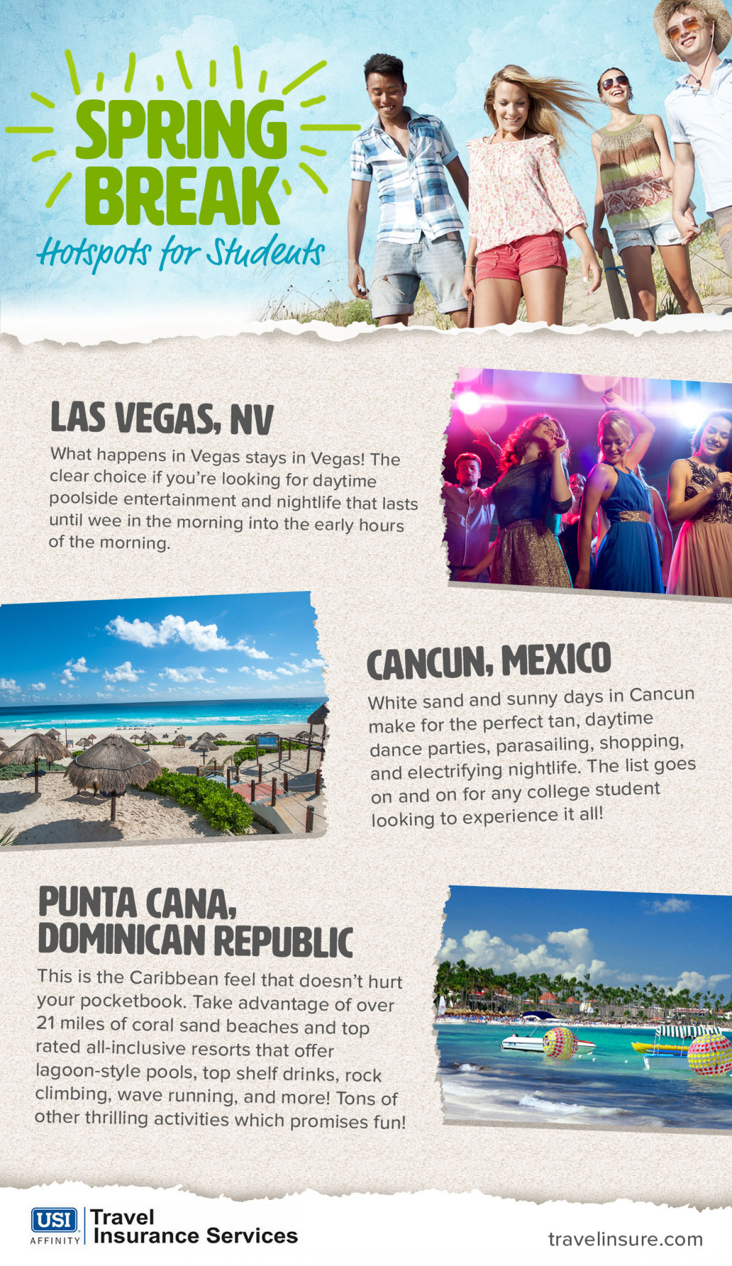 Spring Break Hot Spots Infographic