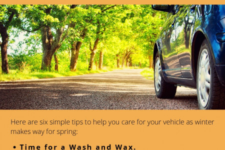 Spring Car Care Tasks Infographic