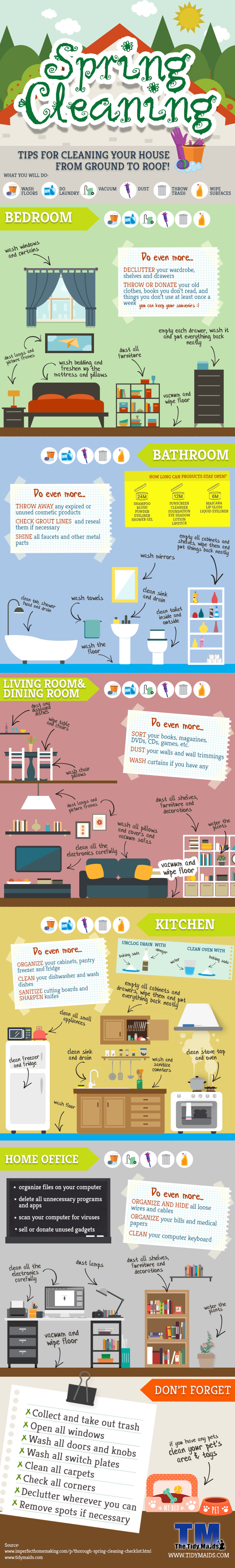 Spring Cleaning Tips And Tricks Infographic
