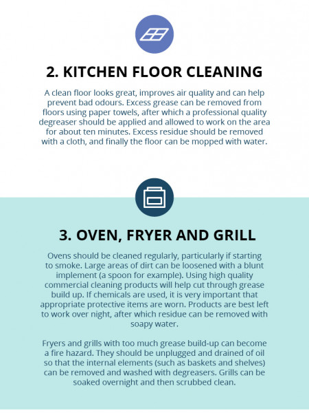 Spring Cleaning Tips for Commercial Kitchens Infographic