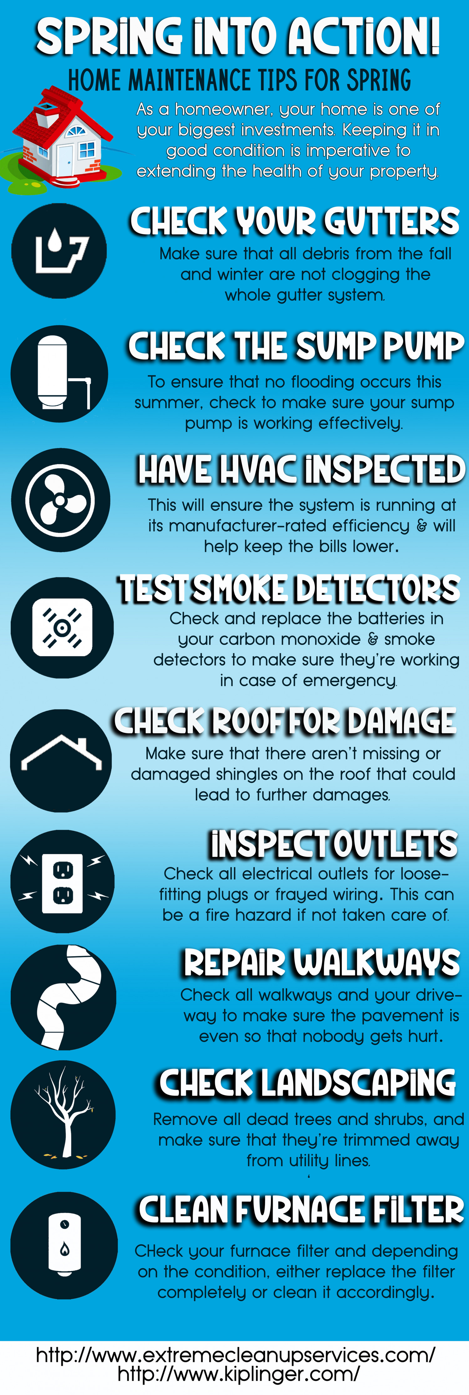Spring Into Action! Home Maintenance Tips For Spring Infographic