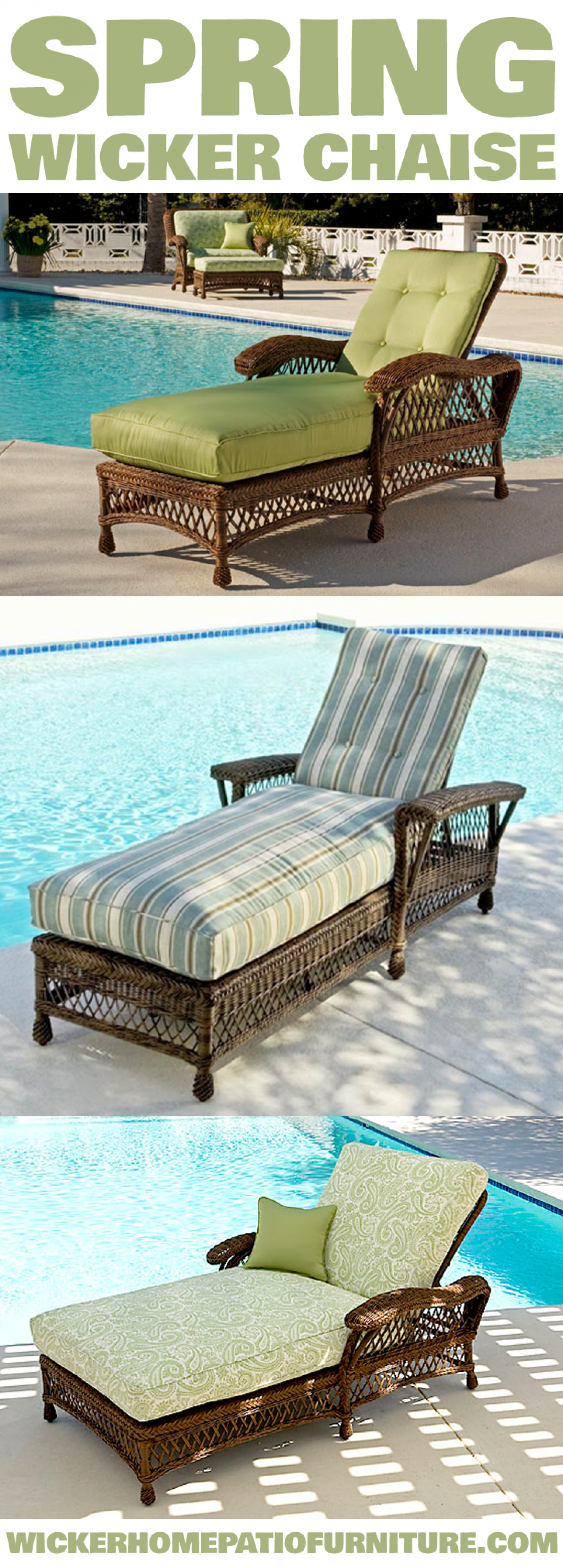 Spring Wicker Chaise Infographic