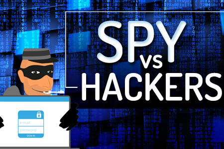 Spy vs Hackers – Infographic Infographic
