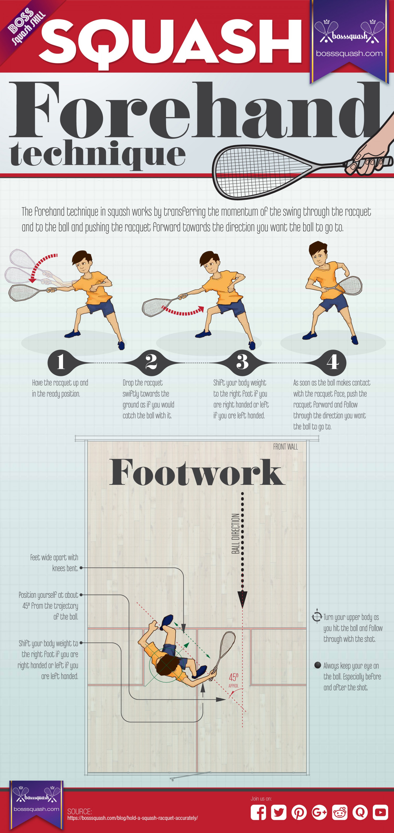 Squash Forehand Technique-A Complete Infographic Infographic
