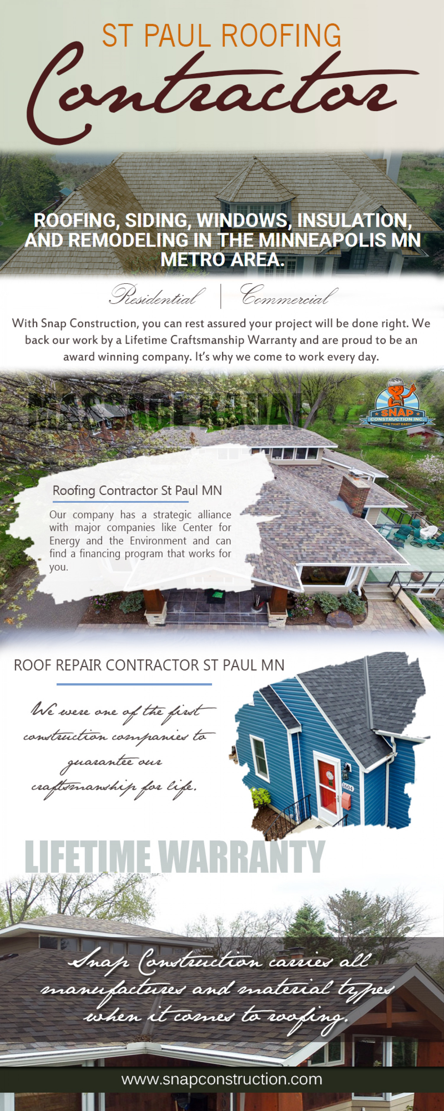 St Paul Roofing Contractor Infographic