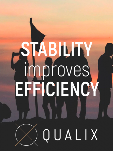 Stability improves efficiency Infographic