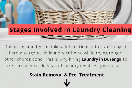 Stages involved in Laundry Cleaning Infographic