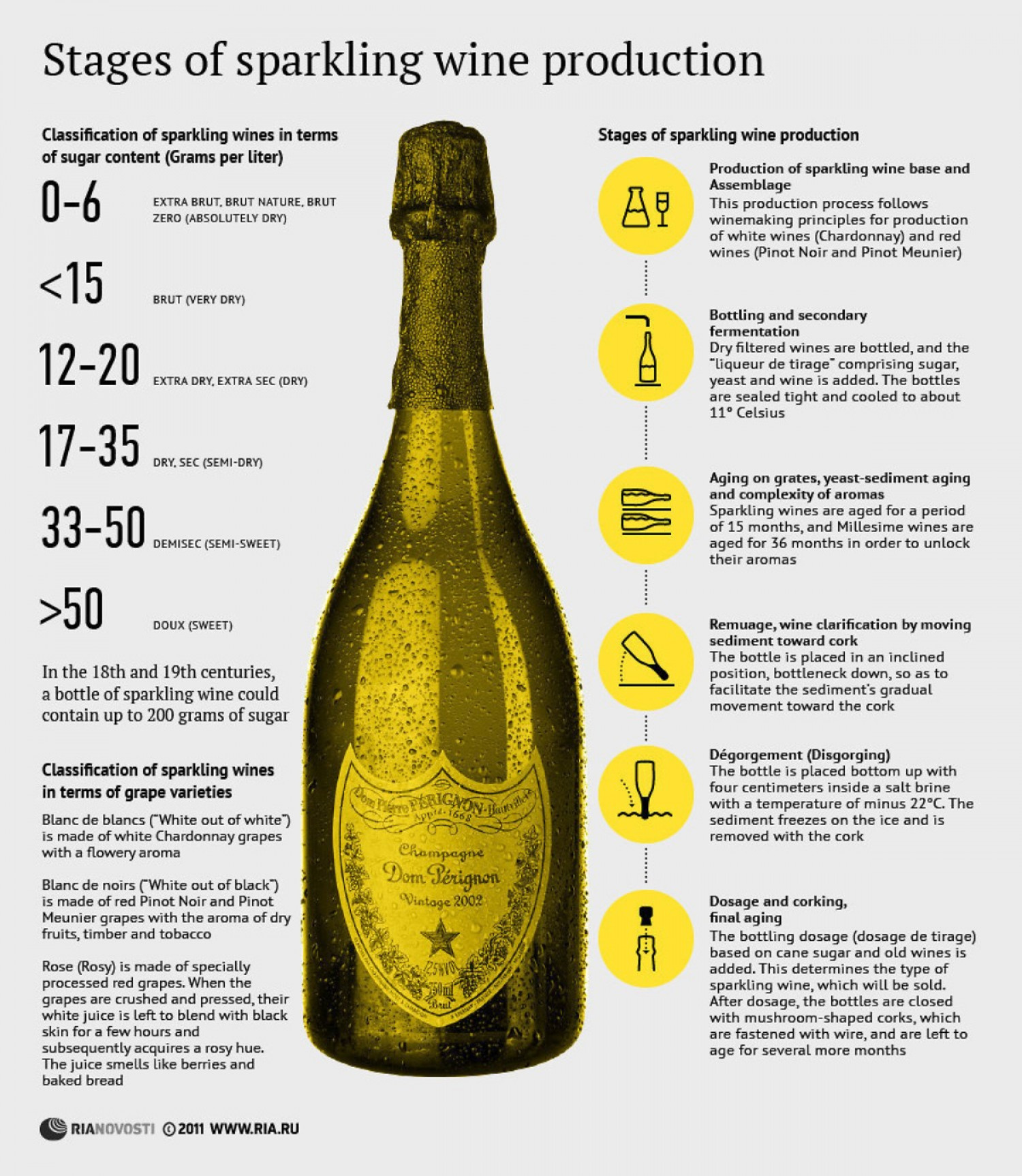Stages of Sparkling Wine Production Infographic