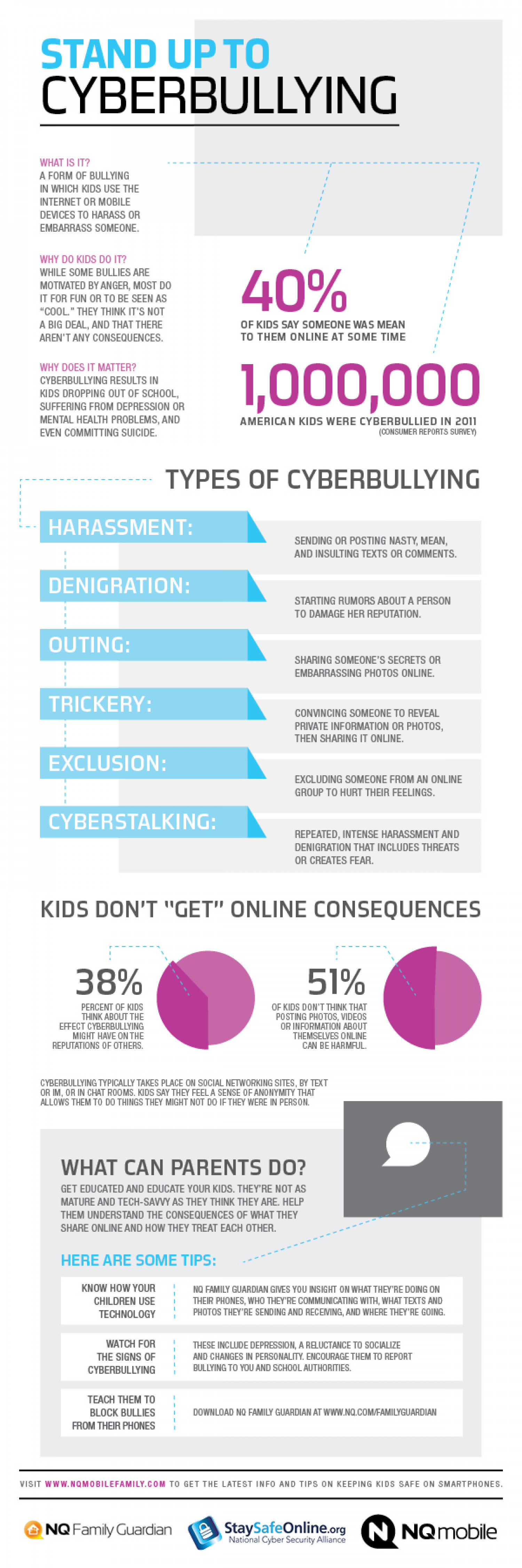 Stand Up to Cyberbullying Infographic