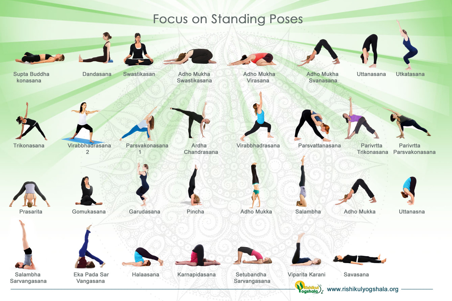 Standing Yoga Poses For Beginners  Visual.ly