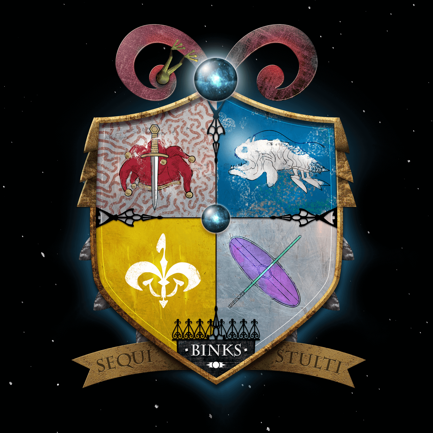 Star Wars Family Crests: Binks Infographic