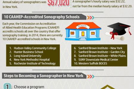 Start a Sonographer Career in New York Infographic