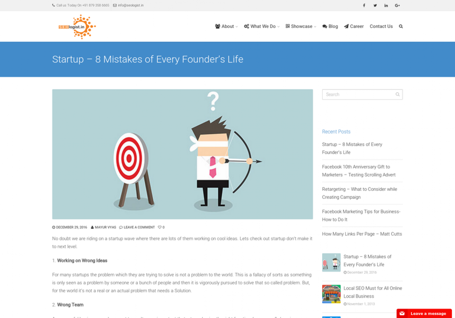 Startup – 8 Mistakes of Every Founder's Life Infographic