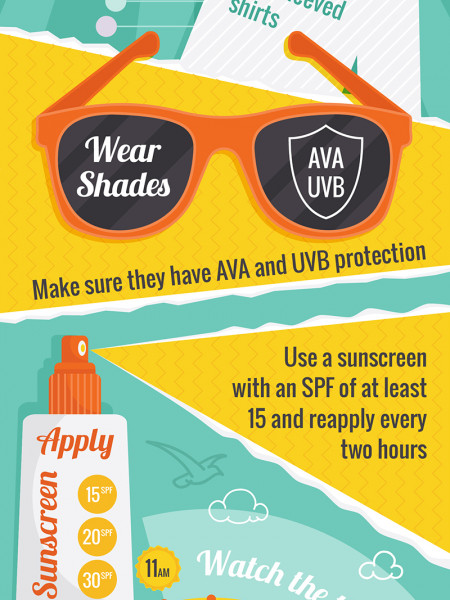 Stay sun safe Infographic