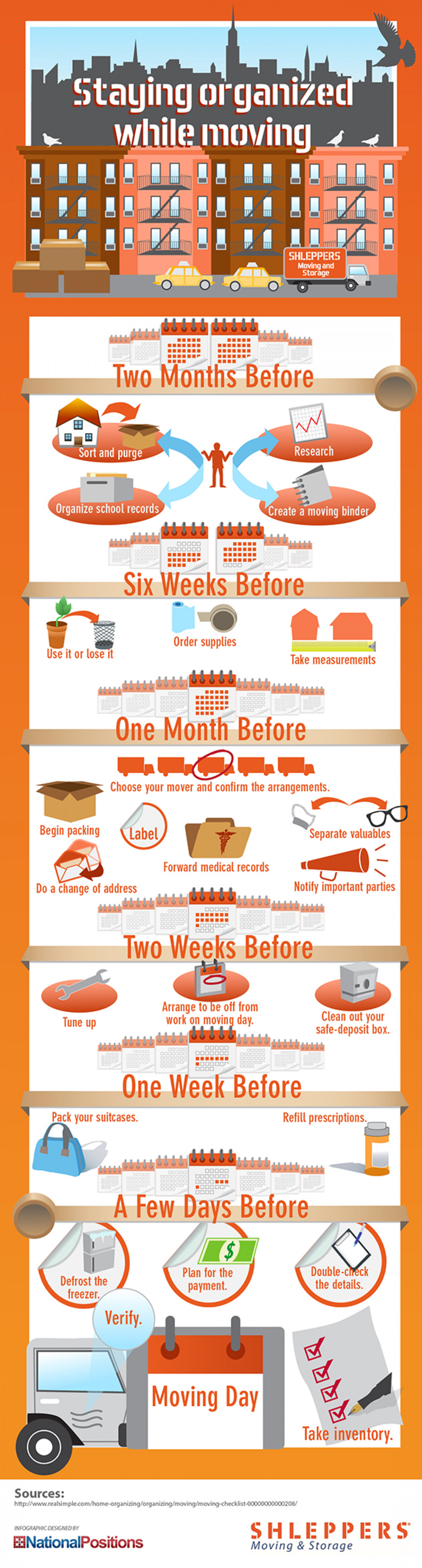 Staying Organized While Moving Infographic