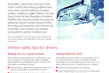 Staying Safe on the Roads in Winter Infographic