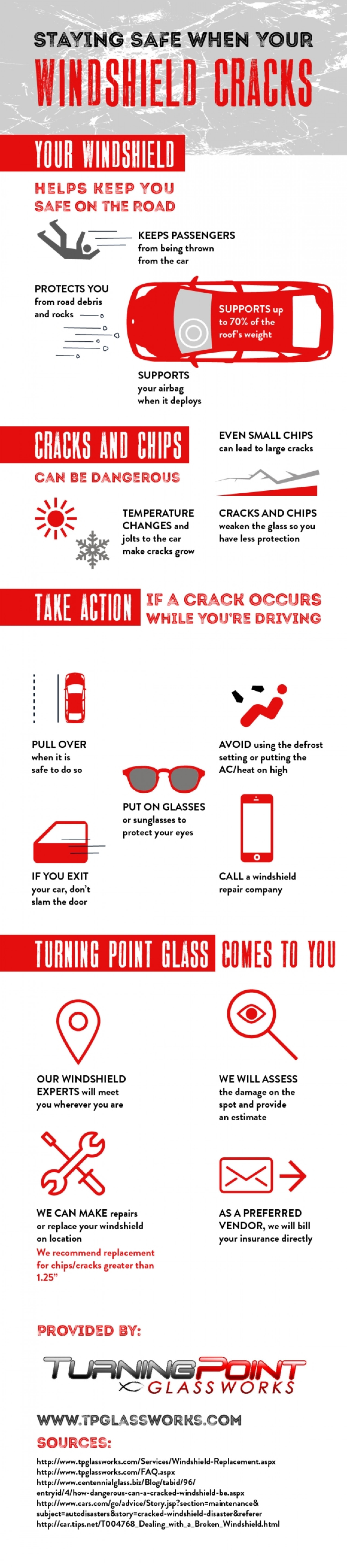 Staying Safe When Your Windshield Cracks Infographic