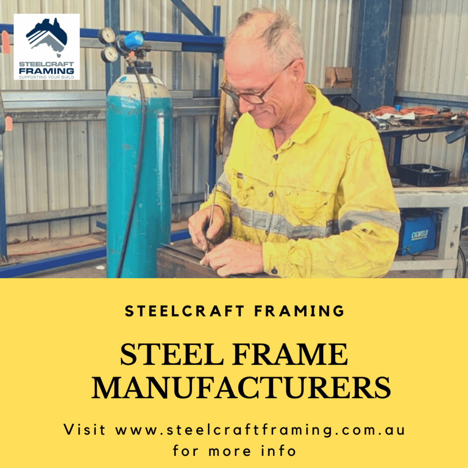 Steel Frame Manufacturers Infographic