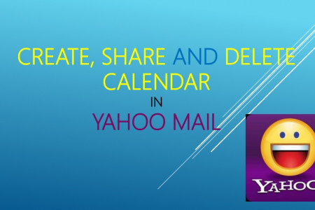 Step to Create share and delete calendars in Yahoo Mail Infographic