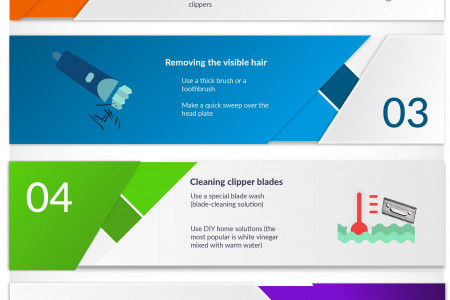 Step-by-Step Guide on How To Clean Hair Clippers Infographic